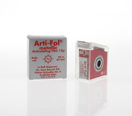 Arti-Fol® metallic, 12 µ, rot, Spender, 22 mm x 20 m