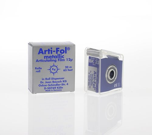 Arti-Fol® metallic, 12 µ, blau, Spender, 22 mm x 20 m